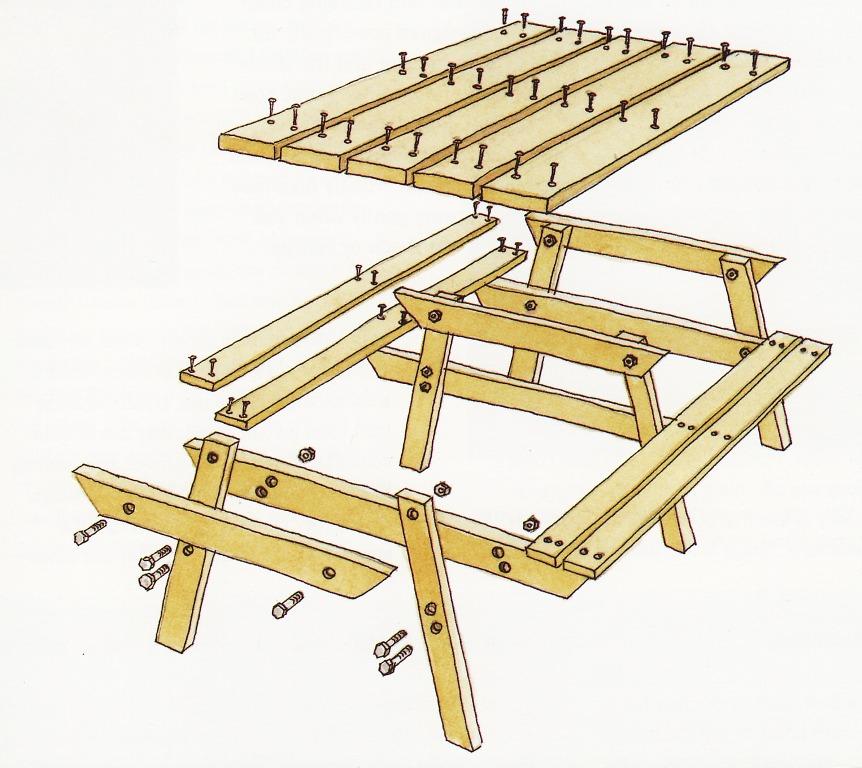 Стол складной из дерева чертежи и ход работы 199